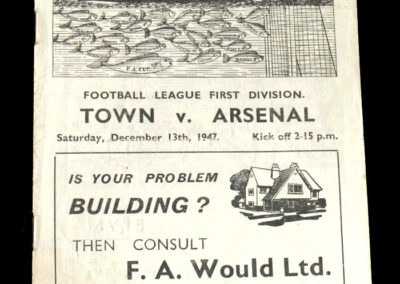 Arsenal v Grimsby Town 13.12.1947