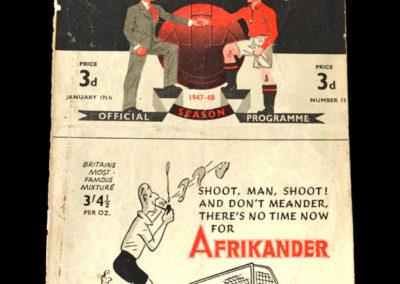 Arsenal v Man Utd 17.01.1948