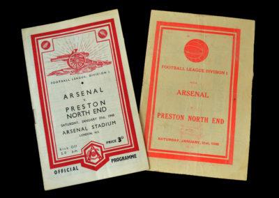 Arsenal v Preston North End 31.01.1948