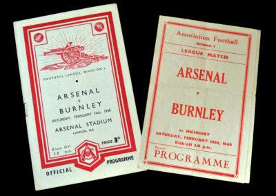 Arsenal v Burnley 14.02.1948