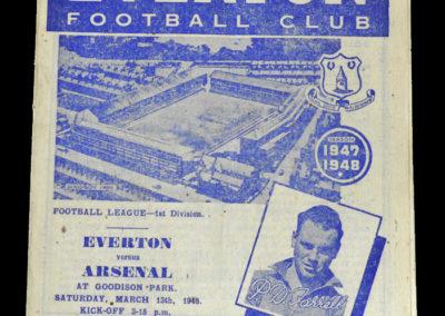 Arsenal v Everton 13.03.1948