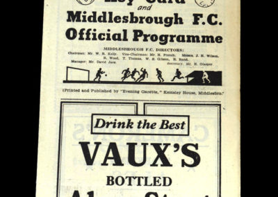 Arsenal v Middlesbrough 29.03.1948