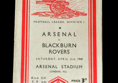 Arsenal v Blackburn 03.04.1948