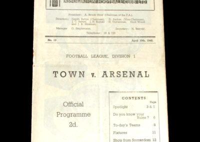 Arsenal v Huddersfield 10.04.1948