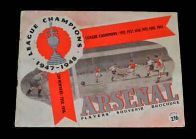 Arsenal League Champions Players Souvenir Brochure