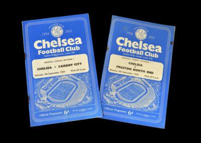 Chelsea v Cardiff 04.09.1954 | Chelsea v Preston 06.09.1954