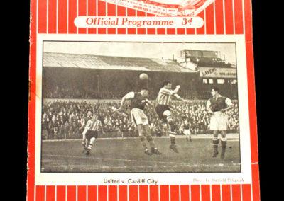 Chelsea v Sheff Utd 20.09.1954