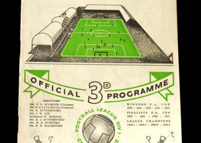Chelsea v Newcastle 25.09.1954
