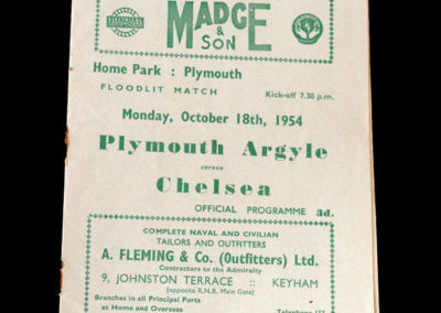 Chelsea v Plymouth 18.10.1954