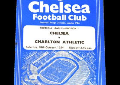 Chelsea v Charlton 30.10.1954