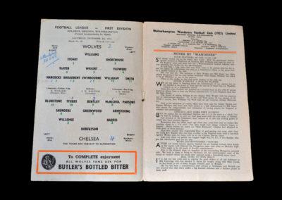 Chelsea v Wolves 04.12.1954