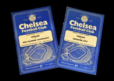 Chelsea v Red Banner 15.12.1954 | Chelsea v Leicester 18.12.1954