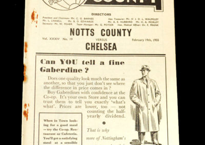 Chelsea v Notts County 19.02.1955