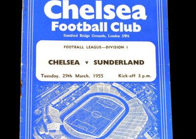 Chelsea v Sunderland 29.03.1955
