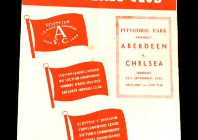 Chelsea v Aberdeen 26.09.1955