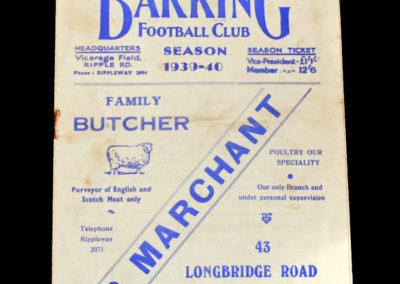 Barking v Leyton 21.10.1939
