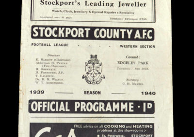 Stockport v Stoke 24.02.1940