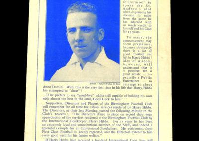Birmingham v Villa 13.04.1940 2-1 & Harry got £650