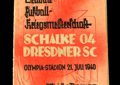 Schalke v Dresden 21.07.1940 - German Championship Final