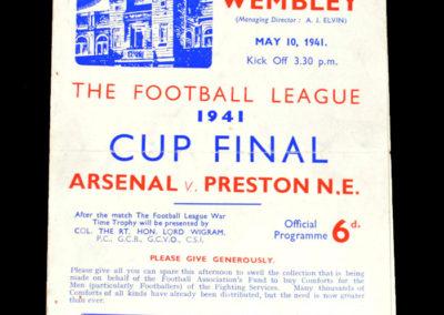 War Cup Final Arsenal v Preston 10.05.1941 1-1