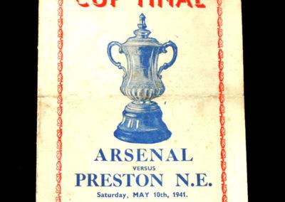 War Cup Final Arsenal v Preston 10.05.1941