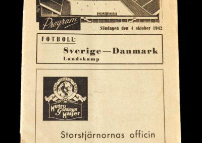 Sweden v Denmark 04.10.1942 | AIK v Hammarby 04.10.1942