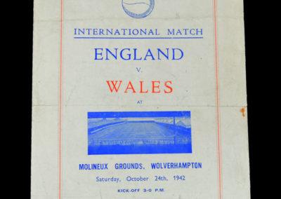 England v Wales 24.10.1942 1-2