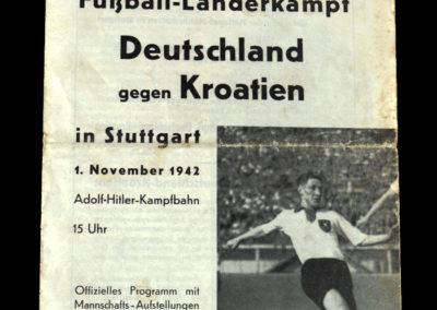 Germany v Croatia 01.11.1942