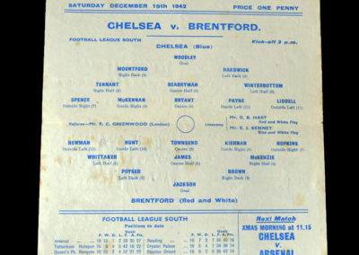 Chelsea v Brentford 19.12.1942