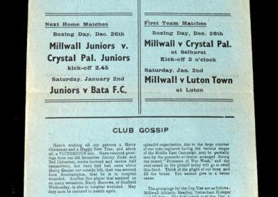 Millwall v Palace 25.12.1942