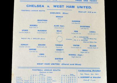 Chelsea v West Ham 09.01.1943