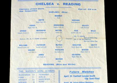 Chelsea v Reading 10.04.1943