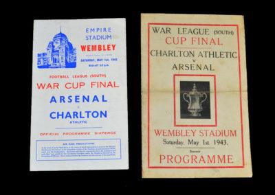 War Cup Final (South) Charlton v Arsenal 01.05.1943 1-7