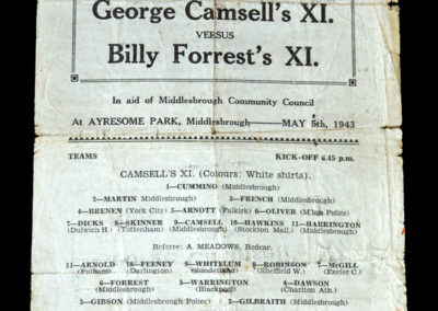 Camsell XI v Forrset XI 05.05.1943