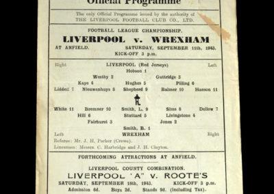 Liverpool v Wrexham 11.09.1943 8-0