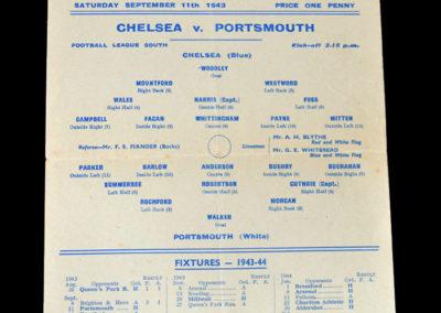 Chelsea v Portsmouth 11.09.1943
