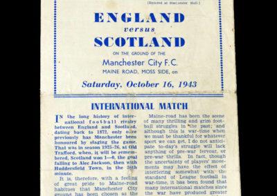 England v Scotland 16.10.1943 8-0