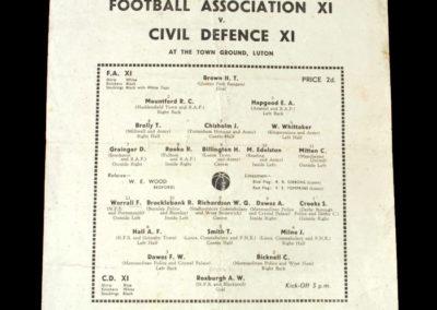 FA XI v Civil Defence XI 27.11.1943 5-4