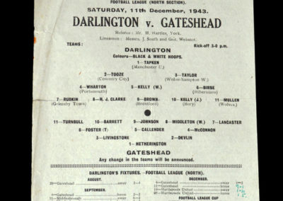Darlington v Gateshead 11.12.1943