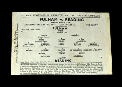 Fulham v Reading 11.03.1944