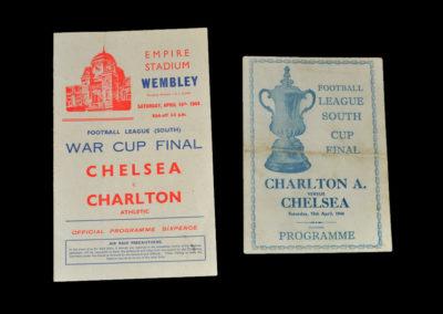 War Cup Final (South) Chelsea v Charlton 15.04.1944