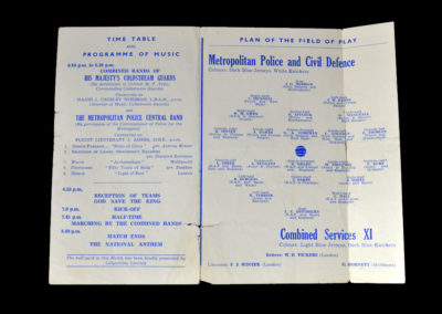 Police & Civil Defence v Combined Services XI 10.05.1944
