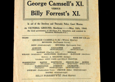 Camsell XI v Forrest XI 10.05.1944