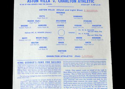 Aston Villa v Charlton 20.05.1944 - War Cup North v South