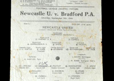 Newcastle v Bradford PA 09.09.1944