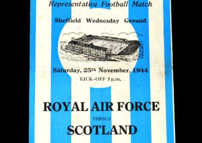 RAF v Scotland 25.11.1944 1-7