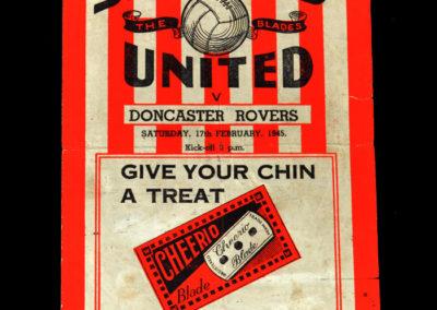 Sheff Utd v Doncaster 17.02.1945