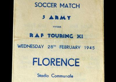 5 Army v RAF 28.02.1945 in Florence