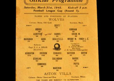 Wolves v Aston Villa 31.03.1945