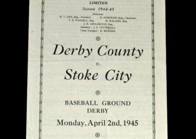 Derby v Stoke 02.04.1945